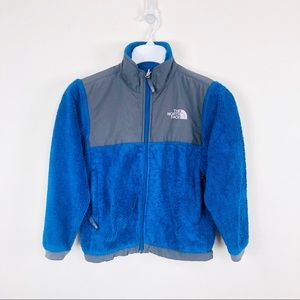 The North Face Blue Teddy Fleece Size Youth Small